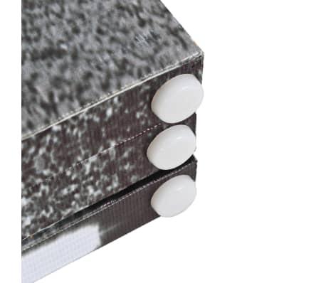 vidaXL Kambario pertvara, 200x170 cm, Londono autob., juoda ir balta[3/5]
