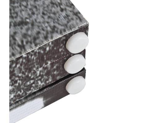 vidaXL Kambario pertvara, 228x170cm, Londono autob., juoda ir balta[3/5]