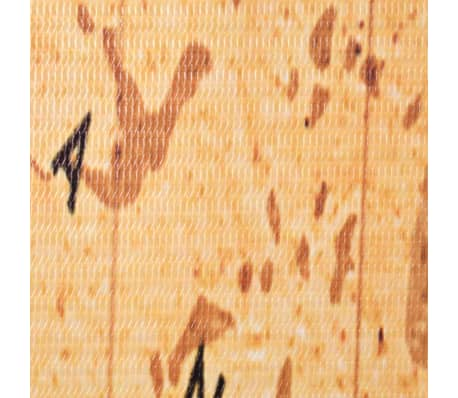 vidaXL Kambario pertvara, 200x170cm, pasaulio žemėlapis, geltona sp.[4/5]