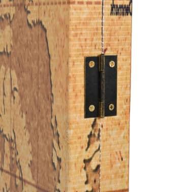 vidaXL Kambario pertvara, 200x170cm, pasaulio žemėlapis, geltona sp.[3/5]