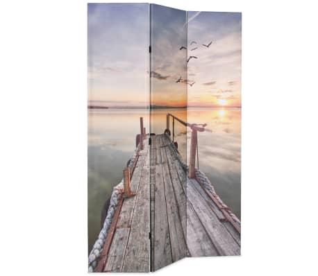 vidaXL Kamb. pertvara, sulankst., 120x170cm, ežero paveikslėlis[2/5]