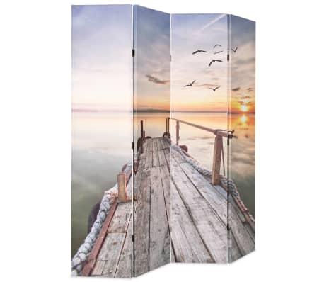 vidaXL Biombo divisor plegable 160x170 cm lago[2/5]