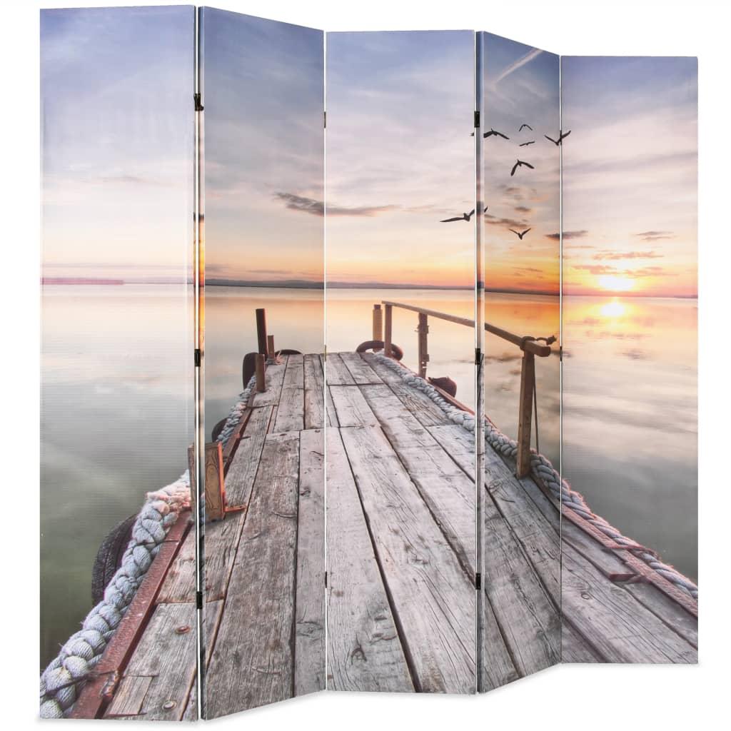 Kamerscherm inklapbaar meer 200x170 cm