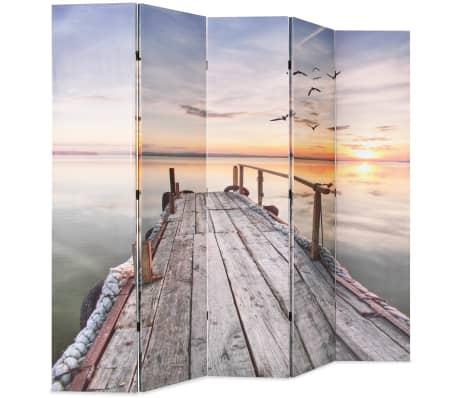 vidaXL Kamb. pertvara, sulankst., 200x170cm, ežero paveikslėlis[2/5]