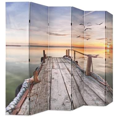 vidaXL Kamb. pertvara, sulankst., 228x170cm, ežero paveikslėlis[2/5]