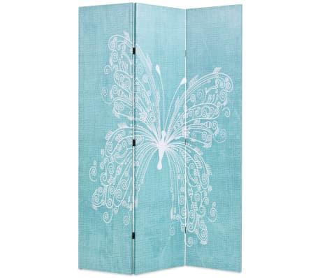 vidaXL foldbar rumdeler 120 x 170 cm sommerfugl blå[1/5]