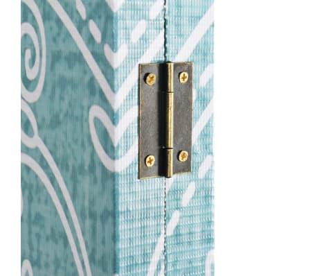 vidaXL foldbar rumdeler 120 x 170 cm sommerfugl blå[3/5]