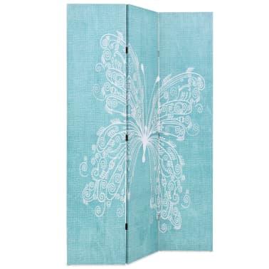 vidaXL foldbar rumdeler 120 x 170 cm sommerfugl blå[2/5]