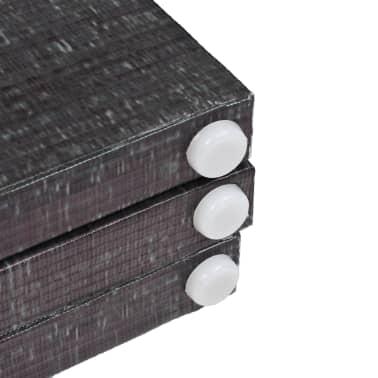 vidaXL Kamb. pertvara, sulankst., 160x170cm, juod. balt. sp. plunksnos[5/5]