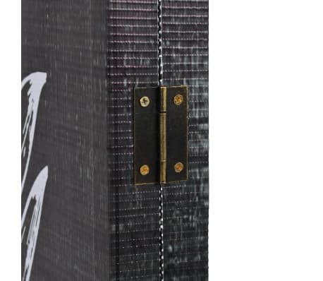 vidaXL foldbar rumdeler 228 x 180 cm fjer sort og hvid[3/5]