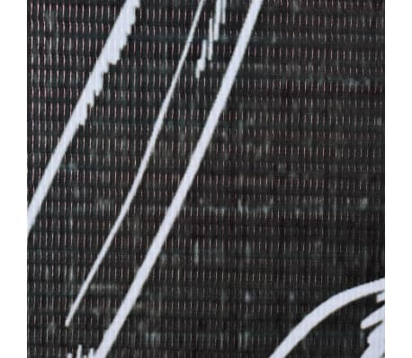 vidaXL foldbar rumdeler 228 x 180 cm fjer sort og hvid[4/5]