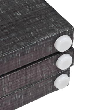 vidaXL foldbar rumdeler 228 x 180 cm fjer sort og hvid[5/5]