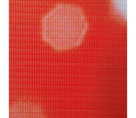 vidaXL istabas aizslietnis, 120x180 cm, saliekams, sarkans ar rozi[4/5]