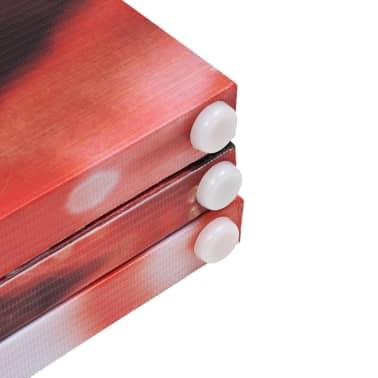 vidaXL istabas aizslietnis, 120x180 cm, saliekams, sarkans ar rozi[5/5]