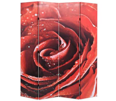 vidaXL Kambario pertvara, sulankstoma, 160x170cm, raudona rožė