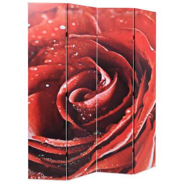 vidaXL Kambario pertvara, sulankstoma, 160x170cm, raudona rožė[2/5]