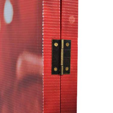 vidaXL Kambario pertvara, sulankstoma, 160x170cm, raudona rožė[3/5]