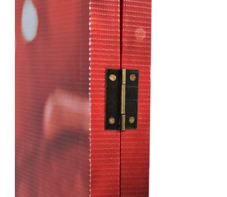 vidaXL Biombo divisor plegable 200x170 cm rosa roja[3/5]