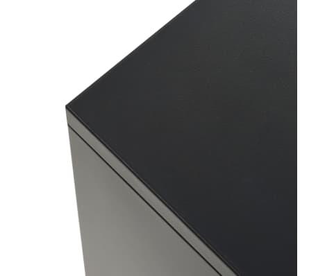 vidaXL Credenza in Metallo in Stile Industriale 130x35x70 cm Nera[7/10]