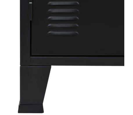vidaXL Credenza in Metallo in Stile Industriale 130x35x70 cm Nera[8/10]