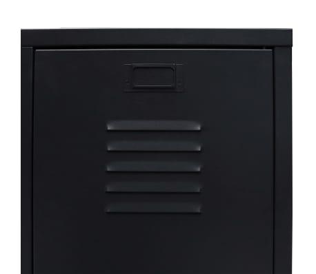 "vidaXL Wardrobe Metal Industrial Style 26.4""x13.8""x42.1"" Black[6/9]"