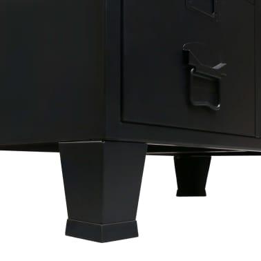 "vidaXL Wardrobe Metal Industrial Style 26.4""x13.8""x42.1"" Black[5/9]"