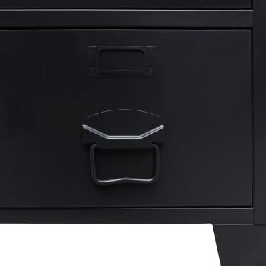 "vidaXL Wardrobe Metal Industrial Style 26.4""x13.8""x42.1"" Black[7/9]"