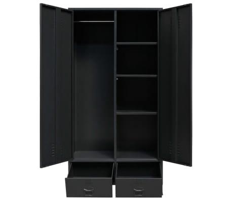 vidaXL Garde-robe Métal de style industriel 90 x 40 x 180 cm Noir[4/8]