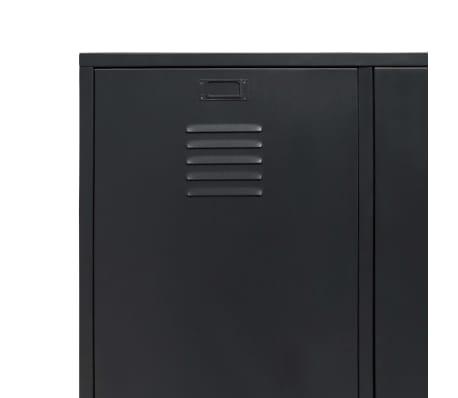 vidaXL Garde-robe Métal de style industriel 90 x 40 x 180 cm Noir[7/8]