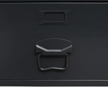 vidaXL Garde-robe Métal de style industriel 90 x 40 x 180 cm Noir[5/8]