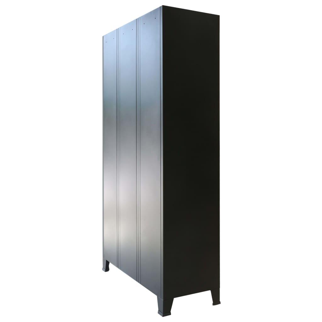Lockerkast industriële stijl 90x45x180 cm metaal