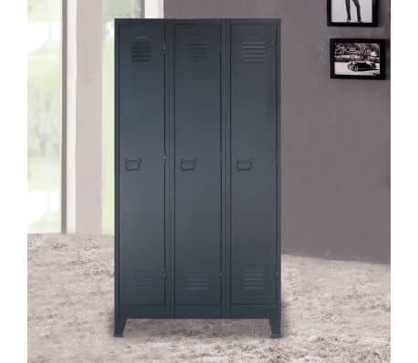 vidaXL Garderobeskap metall industriell stil 90x45x180 cm[2/10]