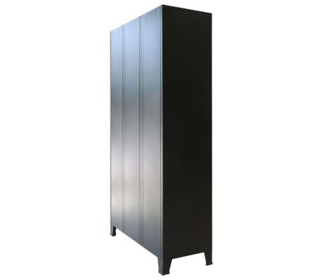 vidaXL Garderobeskap metall industriell stil 90x45x180 cm[4/10]