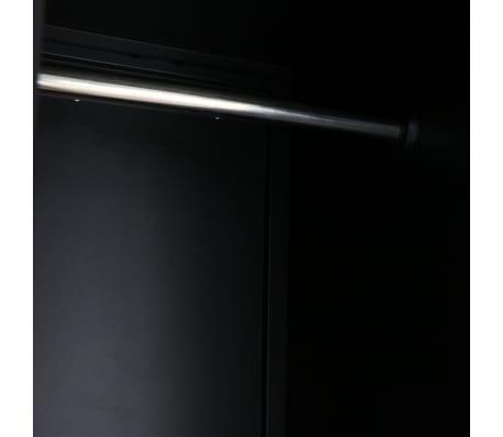 vidaXL Garderobeskap metall industriell stil 90x45x180 cm[8/10]