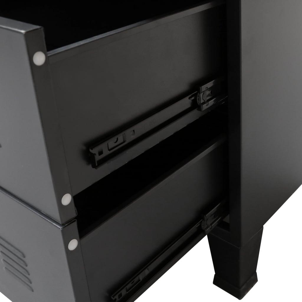vidaXL-Ladekast-Industriele-Stijl-Metaal-Zwart-Wandkast-Opbergkast-Commode miniatuur 5