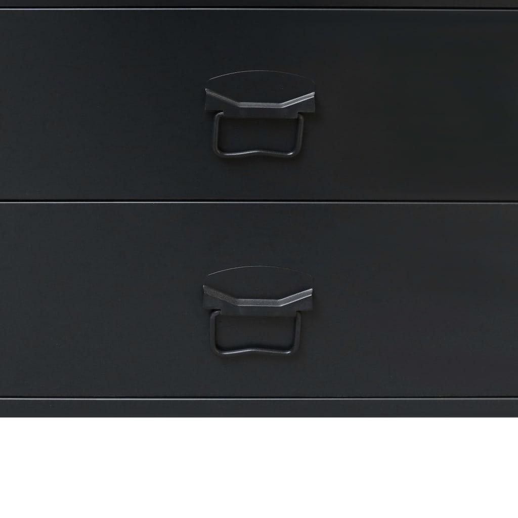 vidaXL-Ladekast-Industriele-Stijl-Metaal-Zwart-Wandkast-Opbergkast-Commode miniatuur 6