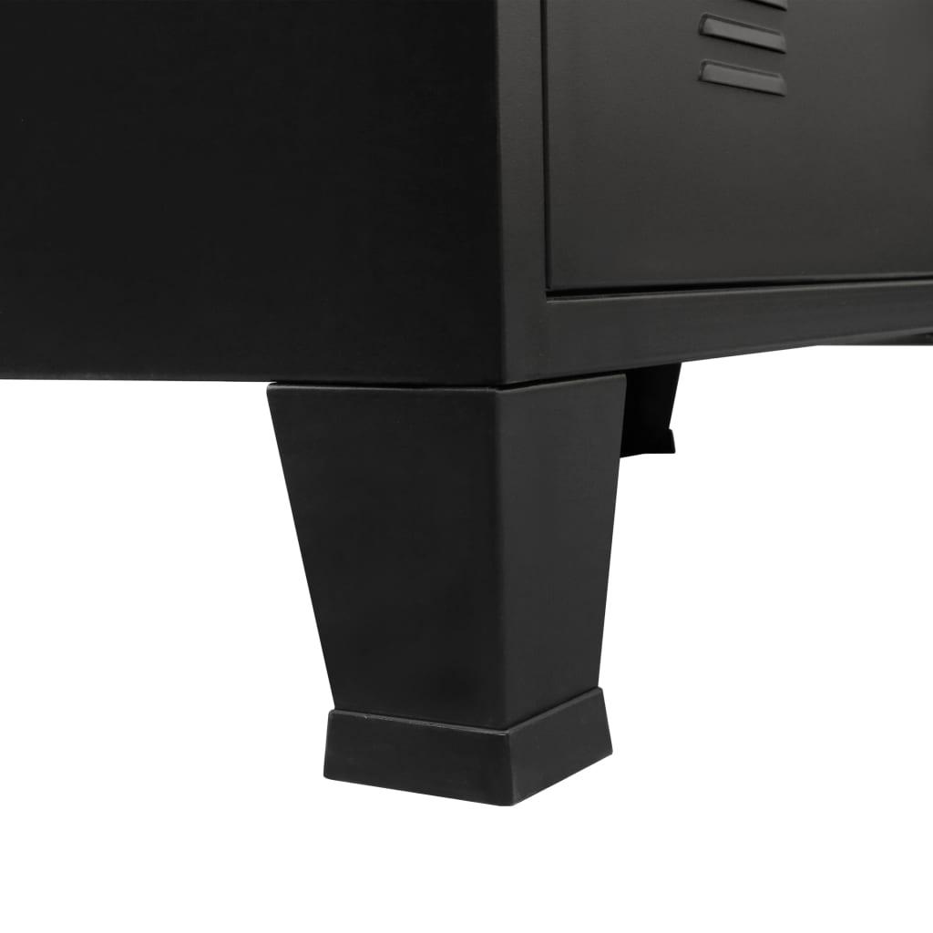 vidaXL-Ladekast-Industriele-Stijl-Metaal-Zwart-Wandkast-Opbergkast-Commode miniatuur 8