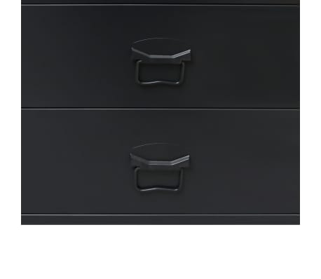 "vidaXL Chest of Drawers Metal Industrial Style 30.7""x15.7""x36.6"" Black[6/9]"