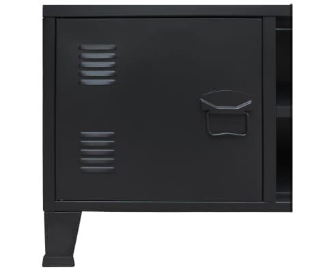Vidaxl Meuble Tv Metal Style Industriel Noir Table Basse Table Salon