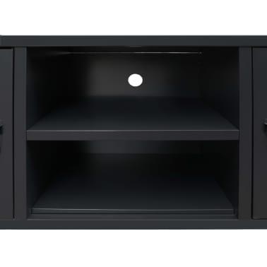 vidaXL TV Cabinet Metal Industrial Style 120x35x48 cm Black[6/7]