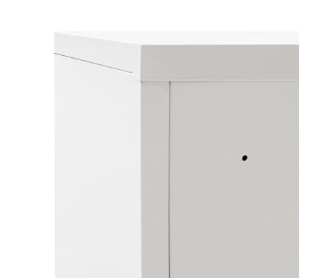 acheter vidaxl armoire de bureau avec porte coulissante m tal 90x40x90 cm gris pas cher. Black Bedroom Furniture Sets. Home Design Ideas