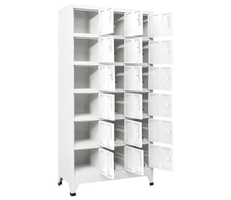 """vidaXL Locker Cabinet with 18 Compartments Metal 35.4""""x15.7""""x70.9""""[3/6]"""