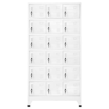 """vidaXL Locker Cabinet with 18 Compartments Metal 35.4""""x15.7""""x70.9""""[2/6]"""