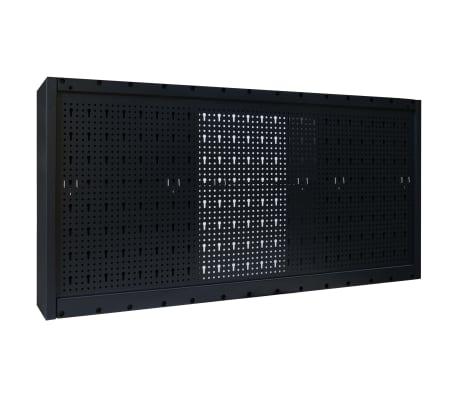 vidaXL Dulap de scule suspendat, industrial, metal 120x19x60 cm, negru[9/9]