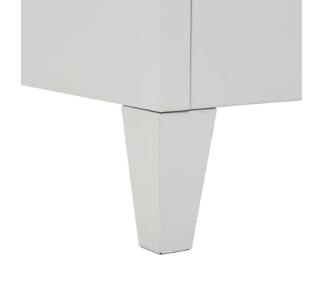 vidaXL Dulap vestiar cu poliță haine albastru & gri 110x45x180cm metal[7/7]