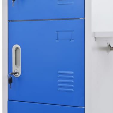 vidaXL Dulap vestiar cu poliță haine albastru & gri 110x45x180cm metal[4/7]