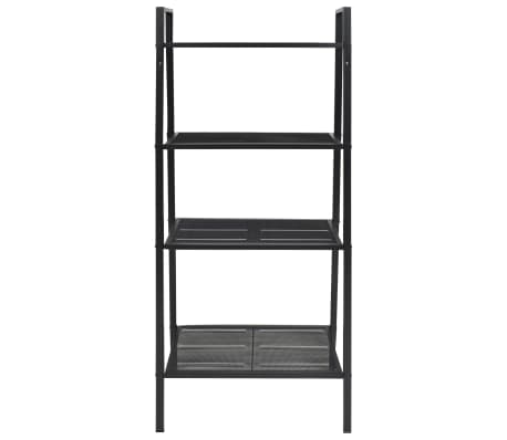 vidaXL Ladder Bookcase 4 Tiers Metal Black[2/6]