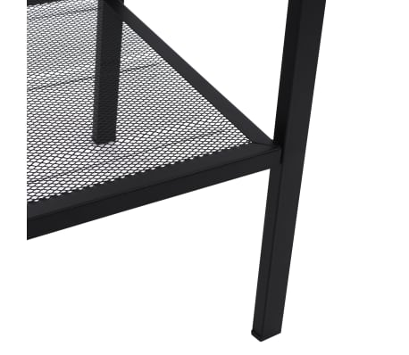 vidaXL Ladder Bookcase 4 Tiers Metal Black[5/6]