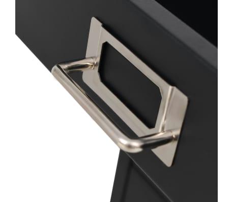 vidaXL Aktenschrank mit 5 Schubladen Metall 28 x 35 x 35 cm Schwarz[7/9]