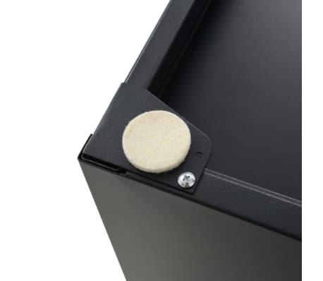 vidaXL Aktenschrank mit 5 Schubladen Metall 28 x 35 x 35 cm Schwarz[8/9]